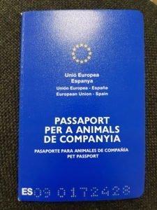 Pasaporte animales de compañía