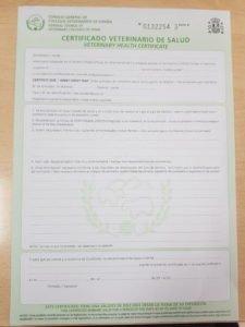 Certificado Veterinario